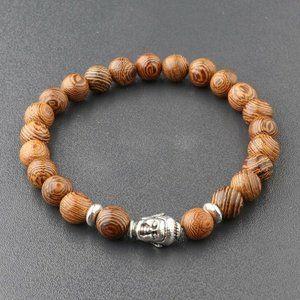 Other - NWOT Wooden Buddha Bracelet